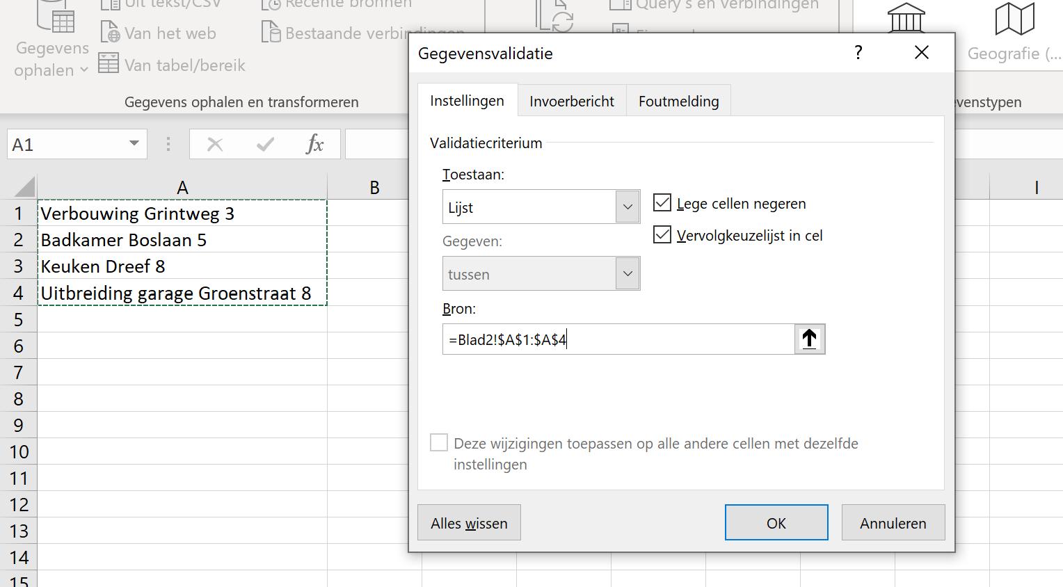 Lijst-Excel-Drop-down-urenregistratie